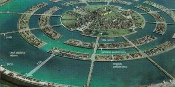 An artists illustration of Atlantis.