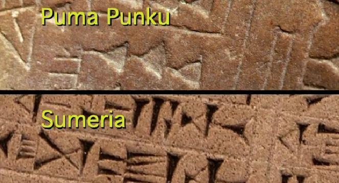 Sumerian writing at Puma Punku?