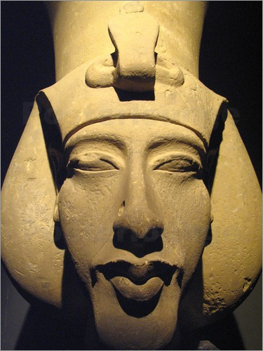 Were the Pharaohs of Ancient Egypt hybrid Aliens? Richard-nowitz-statue-of-pharaoh-akhenaten-also-known-as-amenhotep-iv-164077
