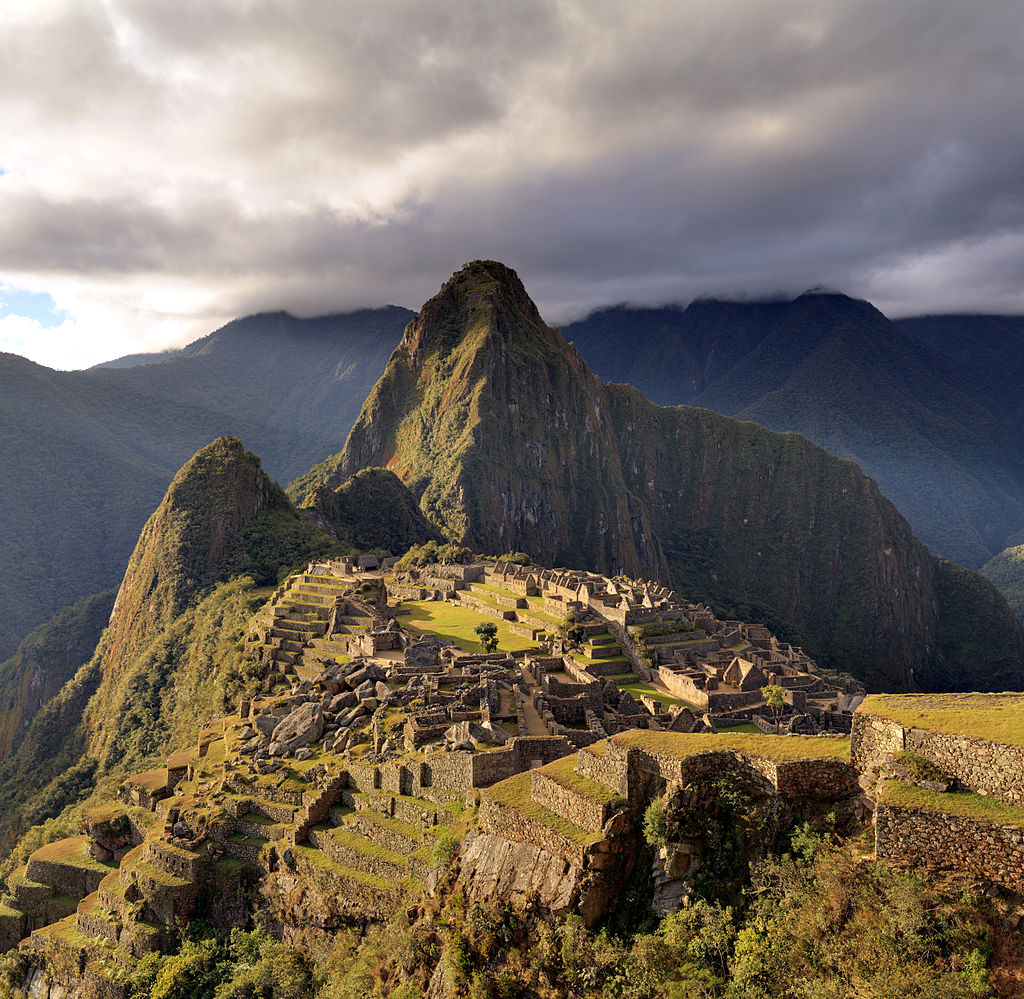 The Macchu Picchu, a UNESCO World Heritage Site near Cusco in Peru, at twilight