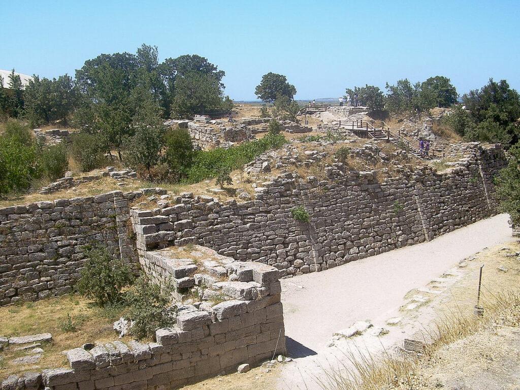 Walls of Troy, Hisarlik, Turkey