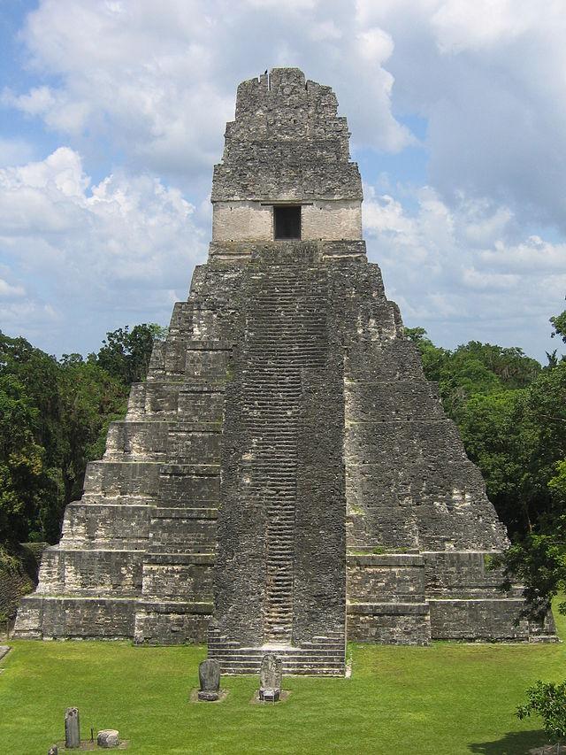 The Tikal Temple I rises 47 metres (154 ft) high.