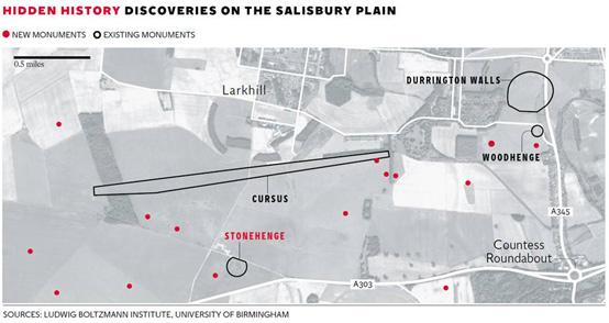 map-newly-discovered-monuments-Salisbury-Plain