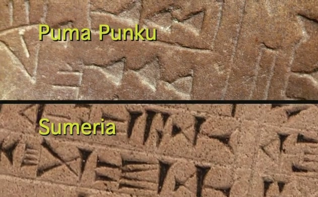 A comparison of the writing on the Fuente Magna Bowl