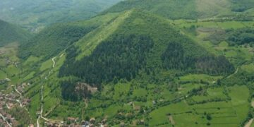 An Aerial view of the Pyramid Of Bosnia
