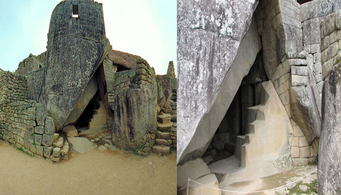 An image of the Royal Musoleum located beneath the temple of the sun at Machu Picchu. Image credit: Unkown :(