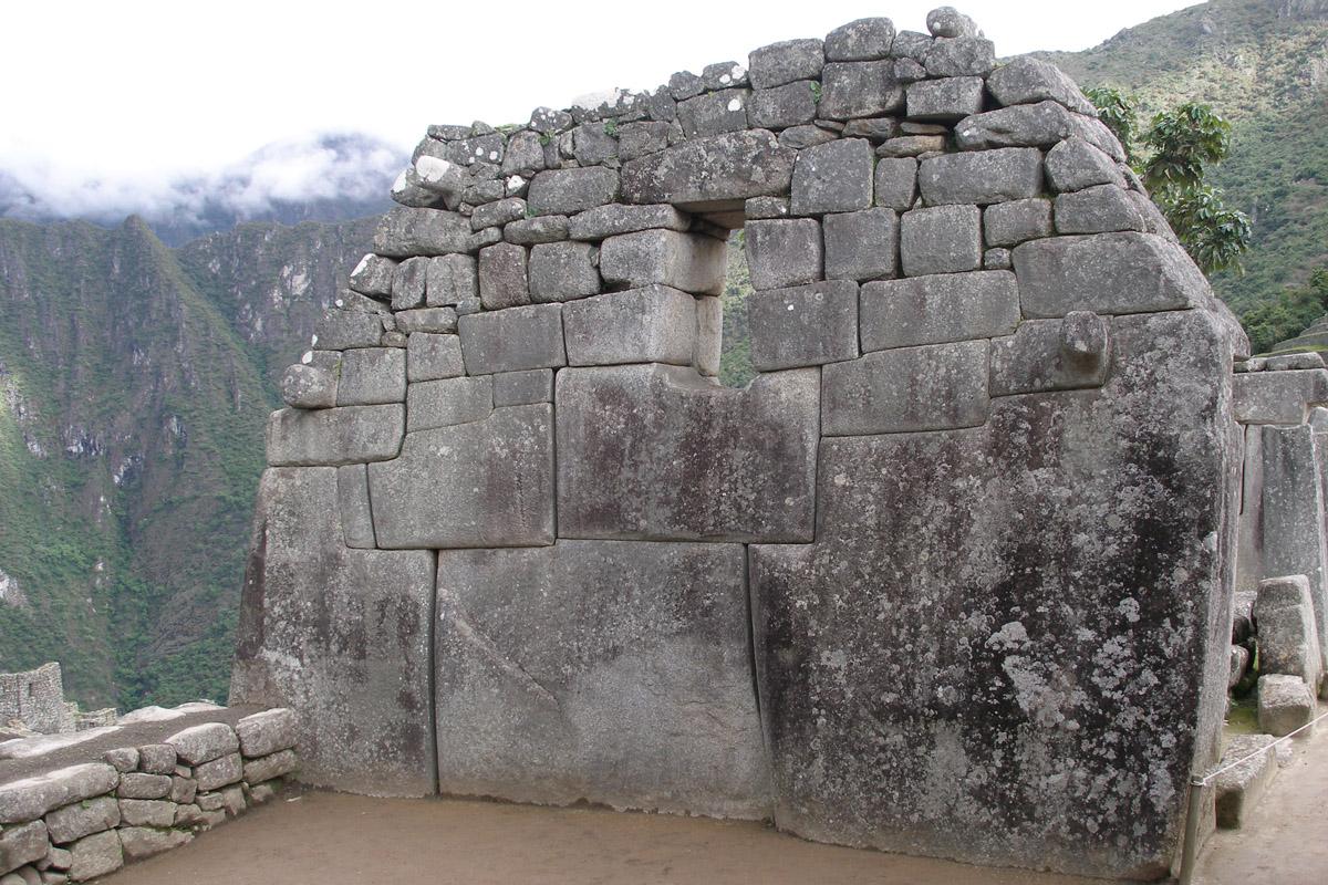 A beautiful image of the stone wall at Machu Picchu. Image credit: Thomas Quine