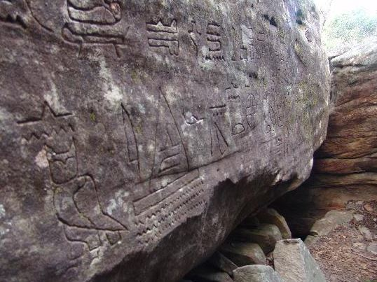 Have 5,000 year-old Egyptian hieroglyphs been found in Australia?