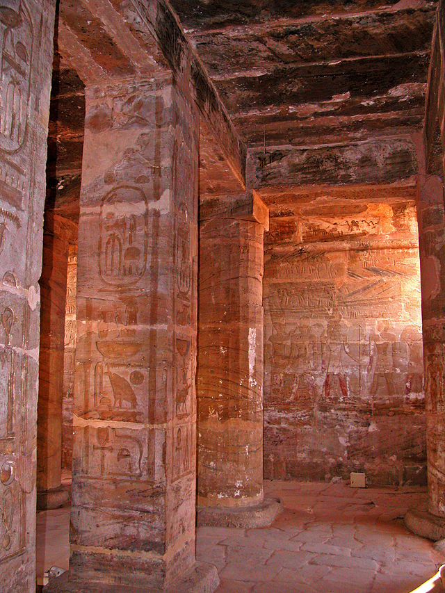 The Amada Temple built by Pharoah Thutmose III. Image Credit Wikimedia
