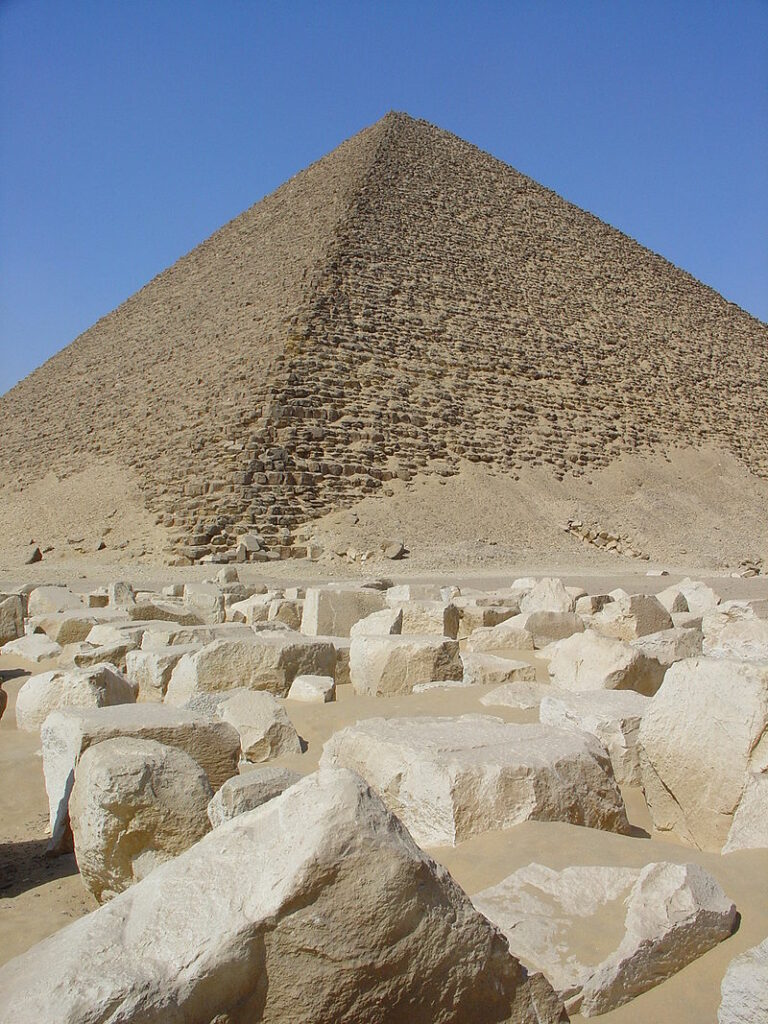 Snofru's Red Pyramid in Dahshur. Image Credit Wikipedia