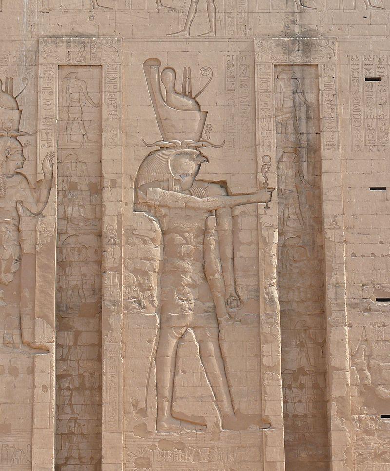 Horus relief in the Temple of Edfu