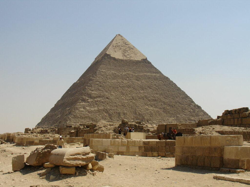 Khafre's Pyramid. Image Credit Wikipedia