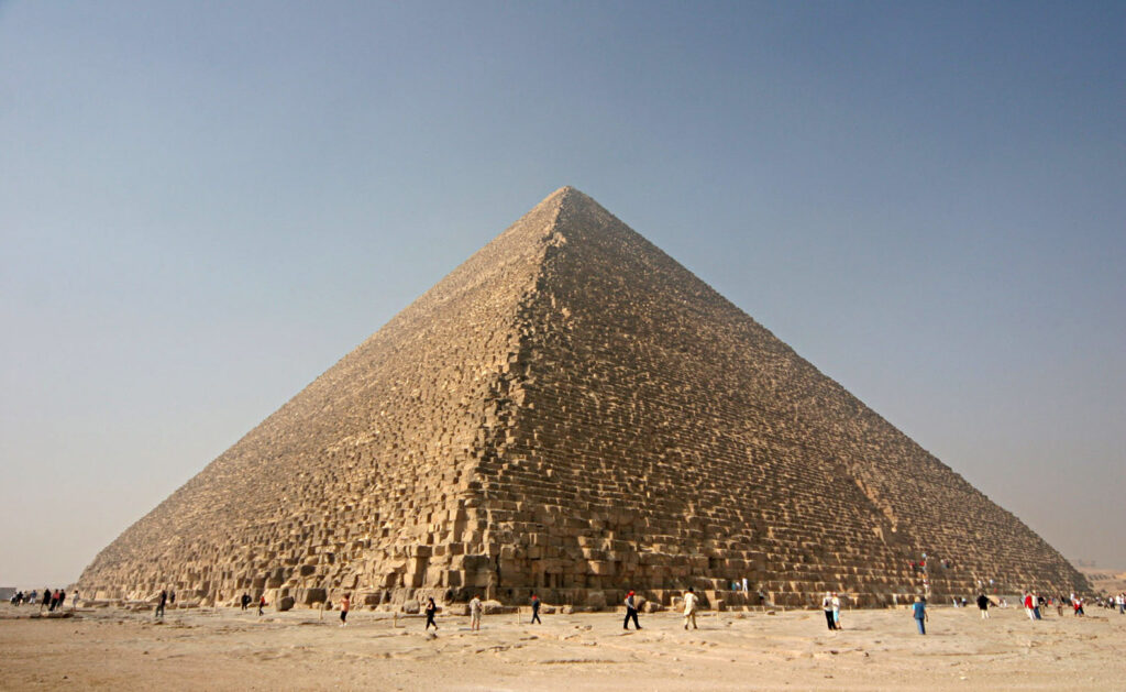 The Great Pyramid of Giza. Image Credit Wikipedia