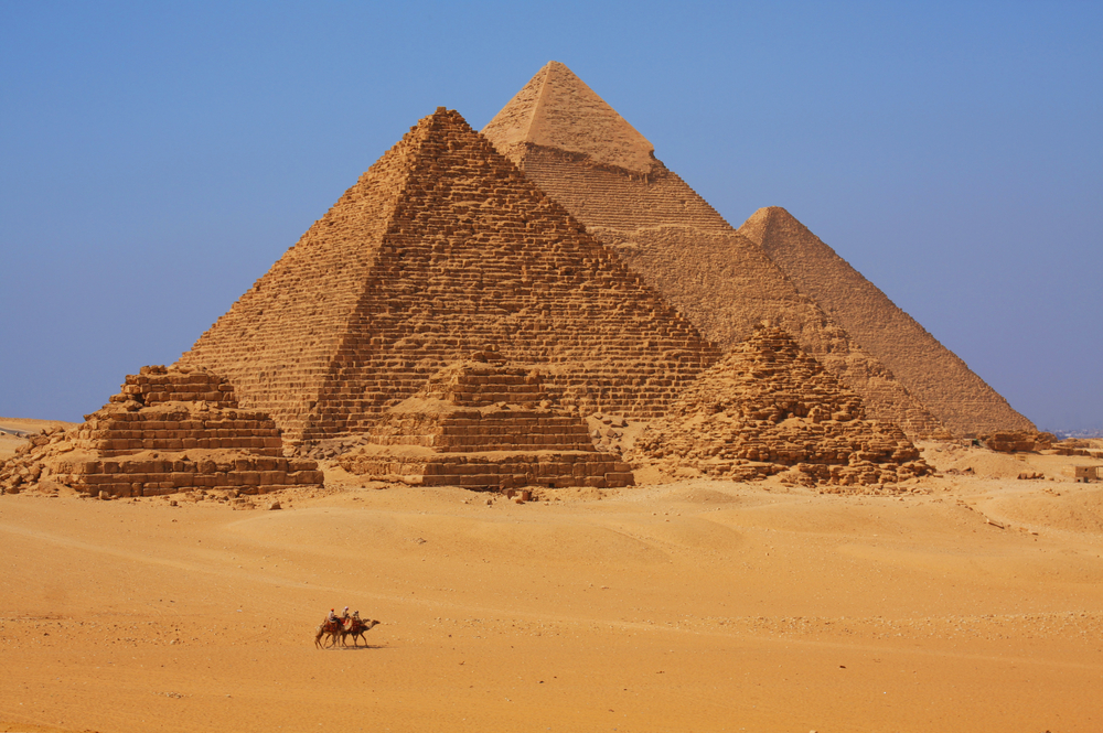 The Pyramids of Giza, built between 2589 and 2504 BC. Credit: Dan Breckwoldt | Shutterstock