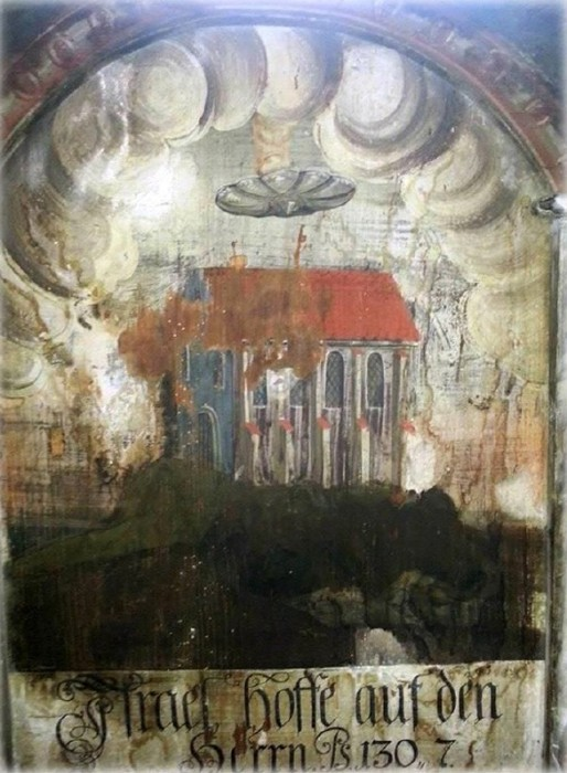 Image result for UFO in 15th Century Painting From Birthplace Of Dracula Vlad Tepes