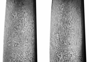 Close-up of an 18th-century Iranian forged Damascus steel sword. Image Credit: Wikipedia
