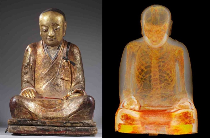 Researchers Find Ancient Mummy Inside Buddhist Statue