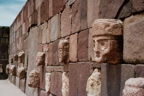 Tiahuanaco- The wall of the faces.