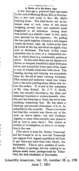 Scientific American article about Dorchester pot.