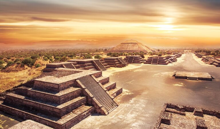 The ancient citadel of Teotihuacan, built by giants that came from above?