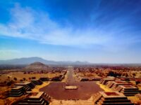 A stunning view of the ancient city of Teotihuacan in Mexico