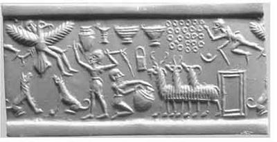Aliens and Ancient Sumer 3b-Etana-king-of-Kish-flies-to-Nibiru