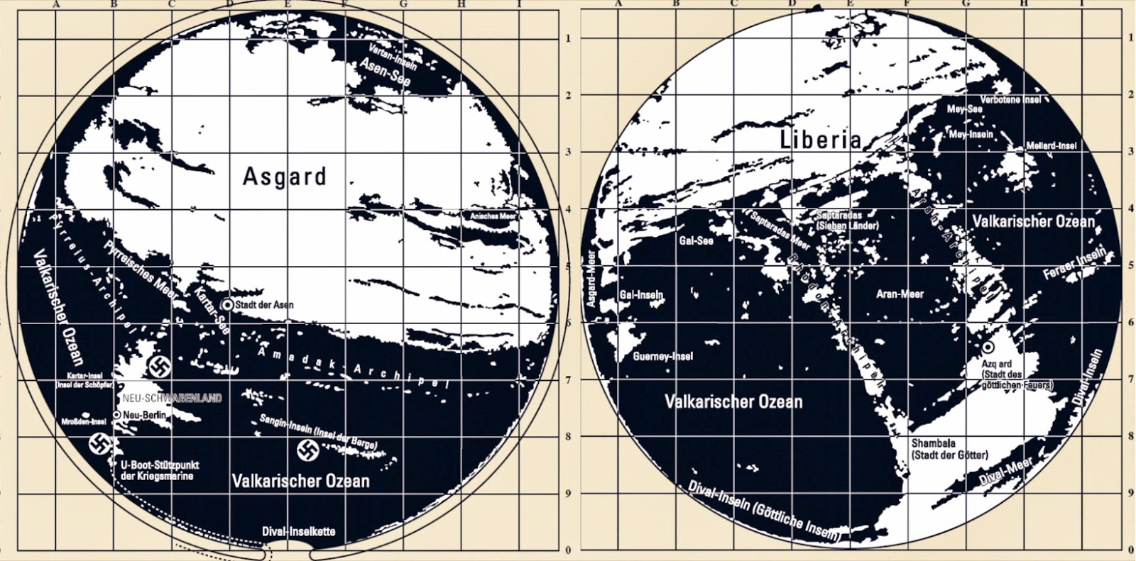 The Hollow Earth Maps Of Third Reich There Is An Entrance To Image A Diagram Showing Interior Please Have 713b8 Agartha