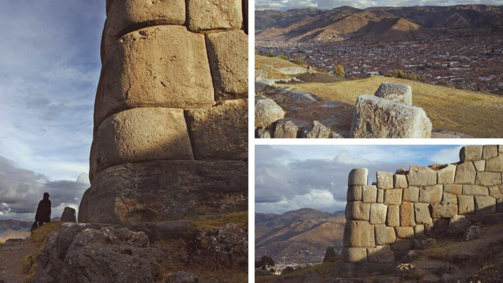 Sacsayhuaman: notice how well the ancient manged to place the structures. Such precision is incredible.