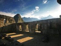 A view of the three windows at Machu Picchu