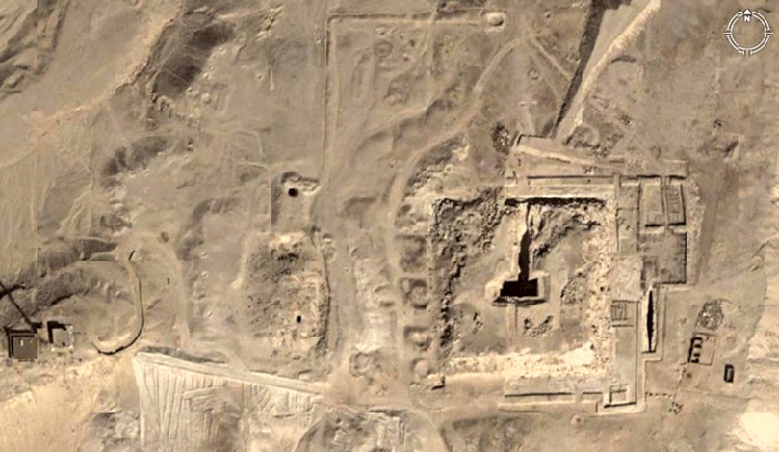 Aerial image of the site where the fourth Pyramid was found