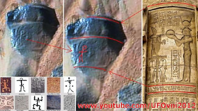 Have Petroglyphs and Statues Been Discovered on Mars?