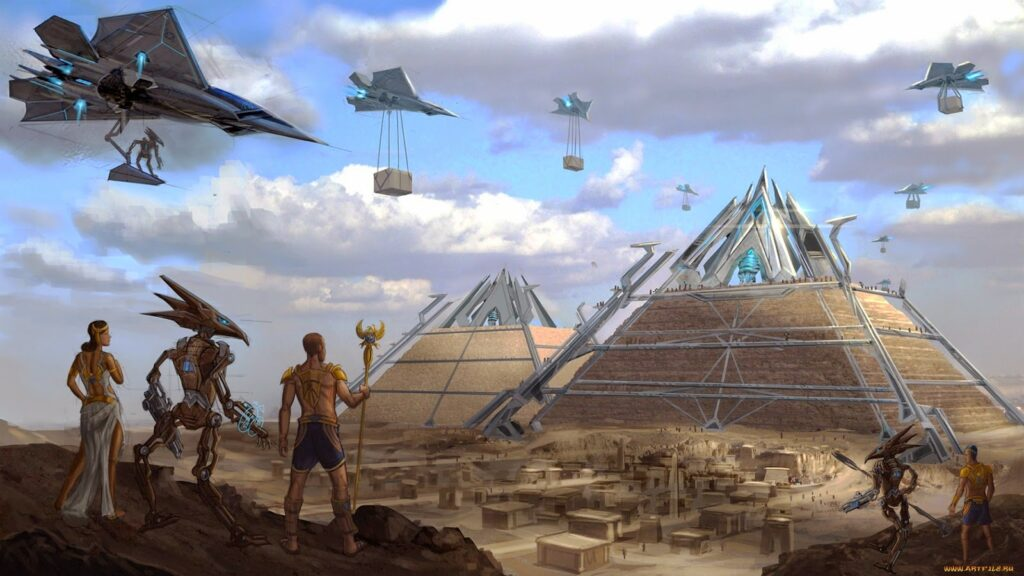 Who do you think are the real builders of the Pyramids? And why has mankind adopted the custom of building Pyramid all over the world?