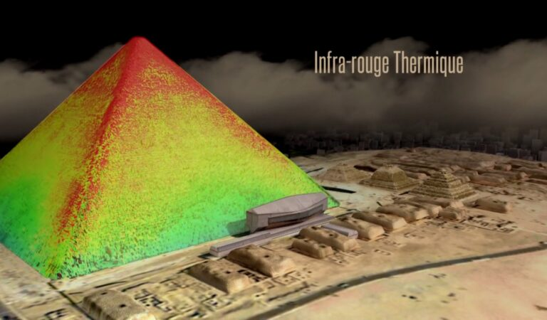 Heat Scans of the Great Pyramid of Giza reveal mysterious anomalies