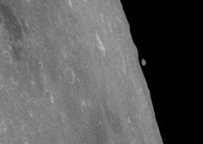 An image of the moon taken by Apollo Mission Astronauts.