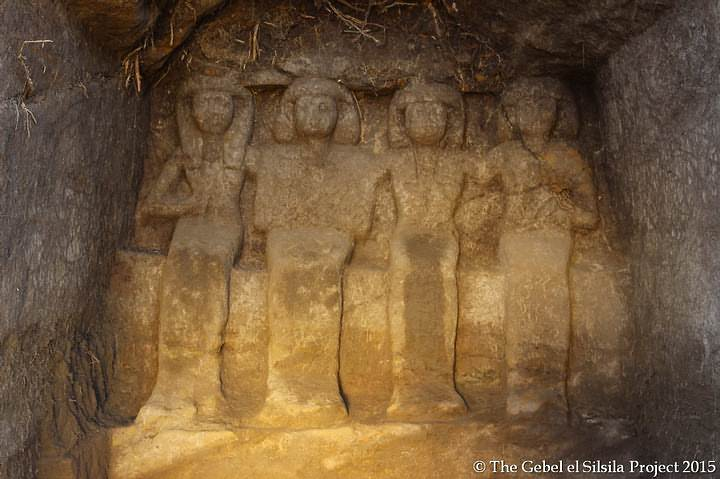 Neferkhewe and his family in chapel 31