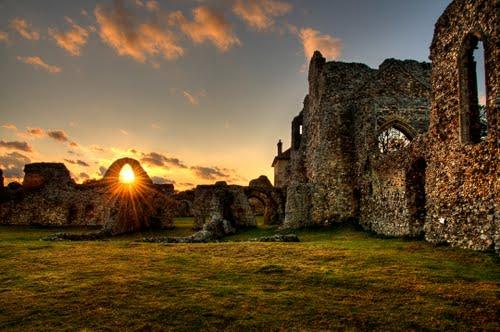 The remain of Leiston Abbey