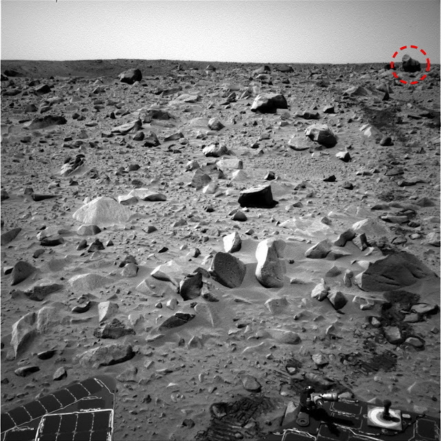 Alien creature on Mars
