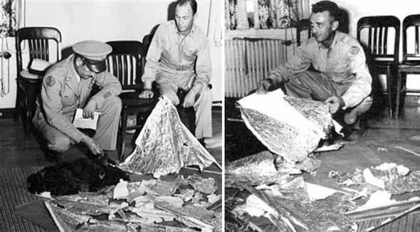 Original images released of the alleged Air Force weather balloon from 1947