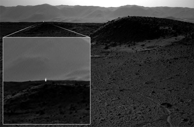 Mysterious 'artificial' light appears on NASA's Mars image