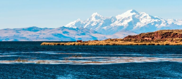 The remains of an ancient civilization located beneath Lake Titicaca