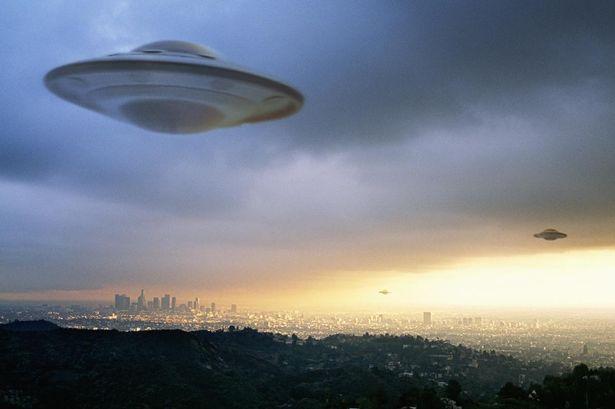UFO flying in the sky