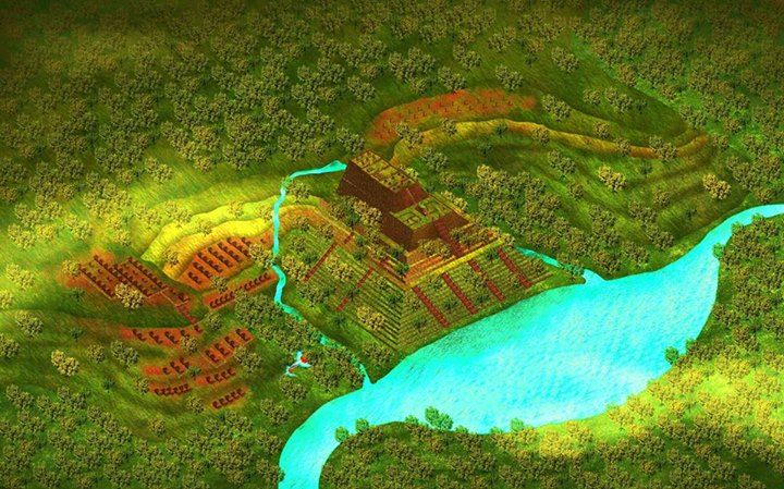 Artist's impression of Gunung Padang as it would have looked in antiquity (© Pon S Purajatnika)