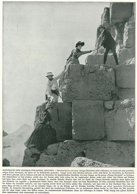 Climbing the Pyramid of Cheops c.1900