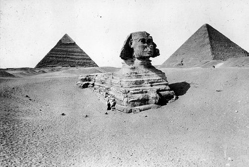 Great Sphinx Before Clearance. Giza. 4th Dynasty. 1900