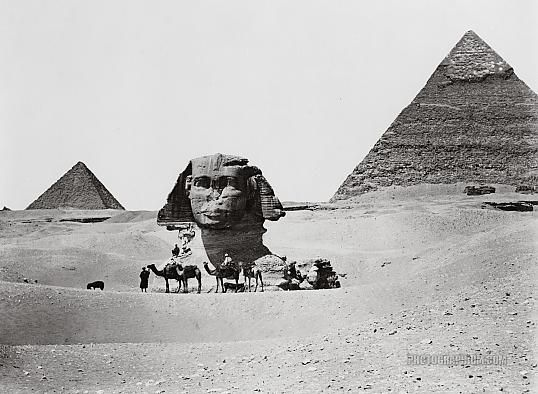 Pyramids and Sphinx Giza, Egypt 1860-1890 Photographium  Historic Photo Archive