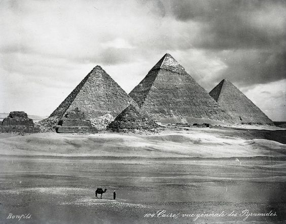The Pyramids, photographed in 1870.