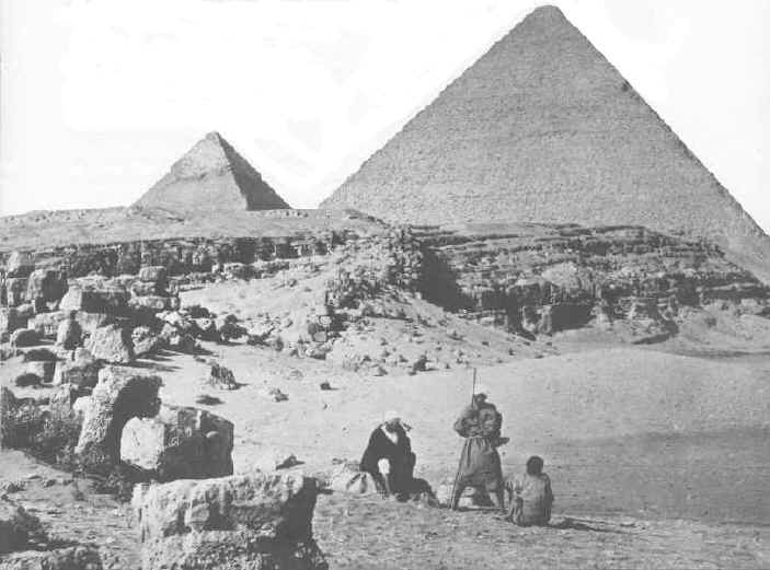 The Pyramids taken in 1862, one of th oldest images
