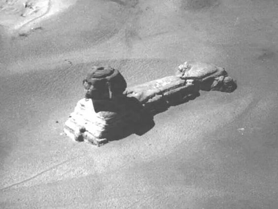 The Entrance to the Sphinx: Rare image shows possible entrance into the Great Sphinx of Giza