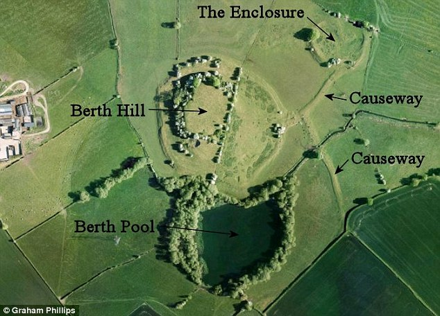 King Arthur's tomb not Avalon! According to claims, a historian believes he has have found where King Arthur is buried - in a field in Shropshire. In this image you can observe an aerial view of the site, referred to as The Berth.