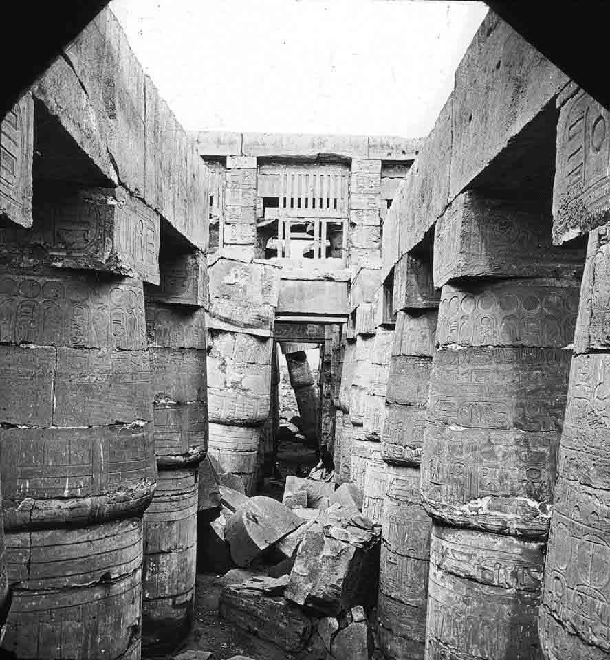 Great hall, Karnak. This image was taken ni the 1920's.  Brooklyn Museum Archives, Goodyear Archival Collection